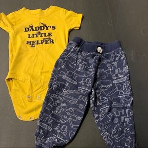 Carter's 24 month Daddy's Helper outfit